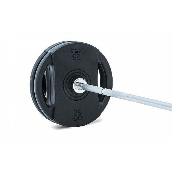 Обрезиненные диски 1,25-2,5-5-10-15-20-25кг Apus Olympic
