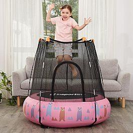Детский надувной батут inSPORTline Nufino 120см розовый