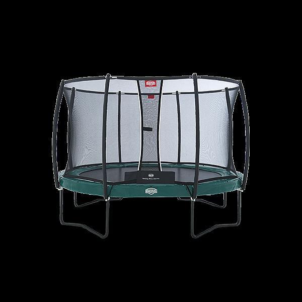 Батут Berg Elite+ Regular Green 380 см + Safety Net T-series 380 см арт. 37.12.91.00