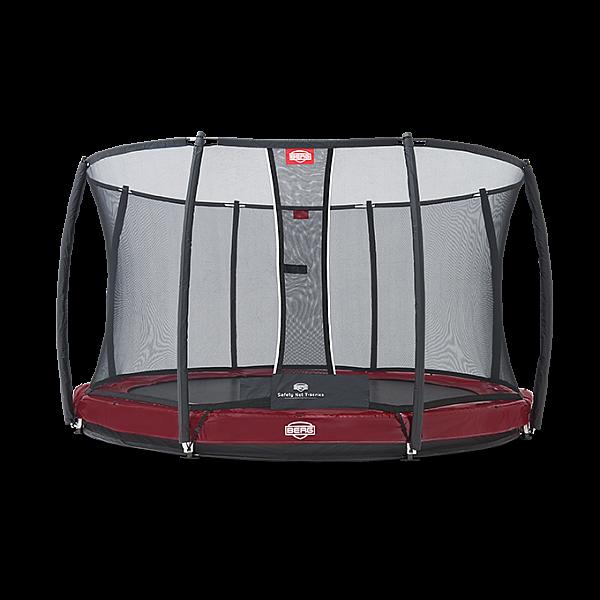 Батут Berg Elite+ InGround Red 330 см + Safety Net T-series 330 см арт. 37.11.82.00