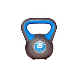Гиря LiveUp Plastic Kettel Bell 3 кг Grey/Blue (LS2047-3)