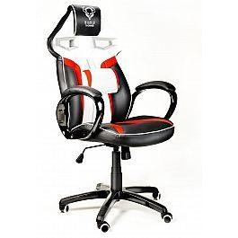 Геймерское кресло Diablo X-Gamer Plus черно-бело-красное