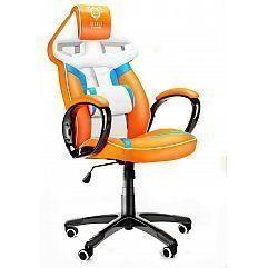 Геймерское кресло Diablo X-Gamer Plus бело-сине-оранжевое