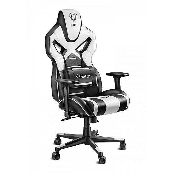 Геймерское кресло Diablo X-Fighter черно-белое