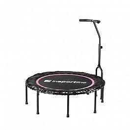 Батут для фитнеса с поручнем inSPORTline Cordy 114см розовый