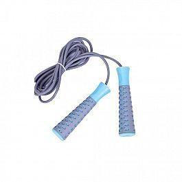 Скакалка  LiveUP  PVC JUMPROPE  серый-голубой (LS3143-g)