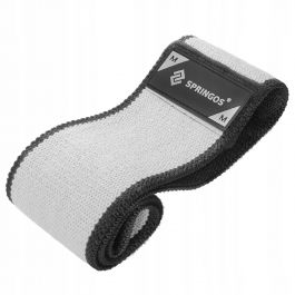 Резинка для фитнеса и спорта тканевая Springos Hip Band Size M FA0114