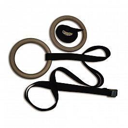 Кольца гимнастические (кольцо: 23*2,8 см; лента: 3,8см*4,6 м) компл.