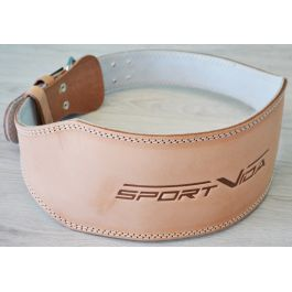 Пояс для тяжелой атлетики кожаный SportVida SV-AG0054 (L) Beige