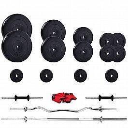 Штанга для упражнений с гантелями Iron Body 95кг