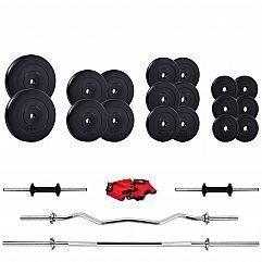 Штанга Iron Body в наборе с гантелями 82кг