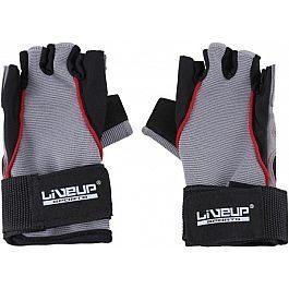 Перчатки LiveUp Training Gloves Black-Grey-Red (LS3071-LXL)