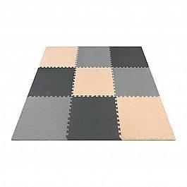 Мат-пазл (ласточкин хвост) 4FIZJO Mat Puzzle EVA 180 x 180 x 1 cм 4FJ0158 Black/Grey/Biege