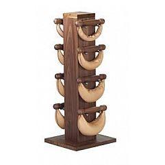 Swing стойка из ореха с гантелями 1-2-4-6 кг