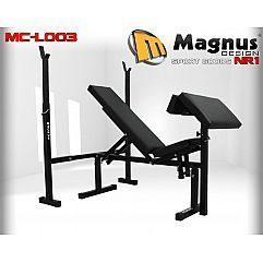 Скамья для упражнений со стойками Magnus MC-L003
