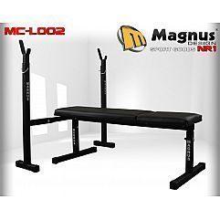 Скамья под штангу прямая + стойки MAGNUSMC-L002