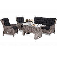 Садовая мебель из техноротанга Trivento Muddy Beige / Black