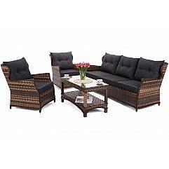 Садовая мебель из техноротанга Siena Grande Brown / Grey