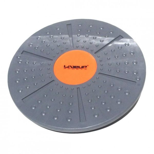 Баланс борд LiveUp Balance Board 39x8 см Gray-Orange (LS3151A)