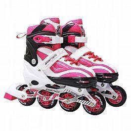 Роликовые коньки SportVida SV-LG0042 Size 31-34 White/Pink