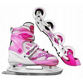 Роликовые коньки SportVida 4 в 1 SV-LG0018 Size 39-42 Pink