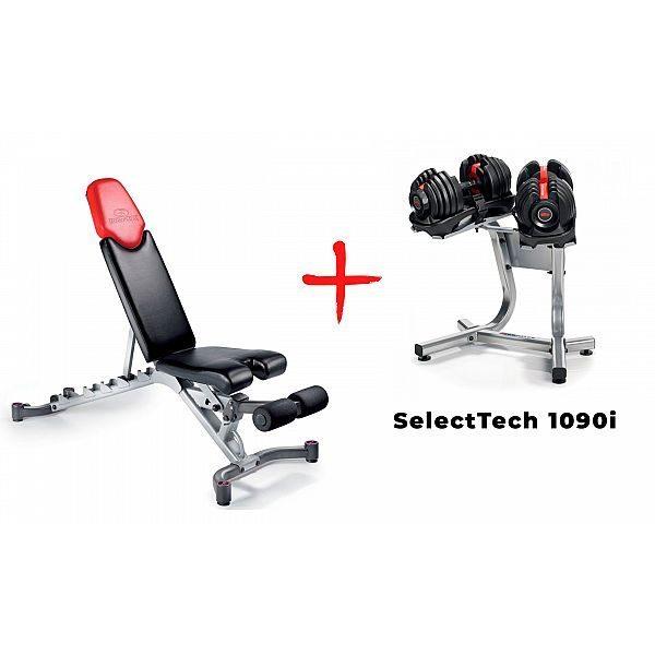 Скамья со стойкой и гантелями Bowflex SelectTech 1090i