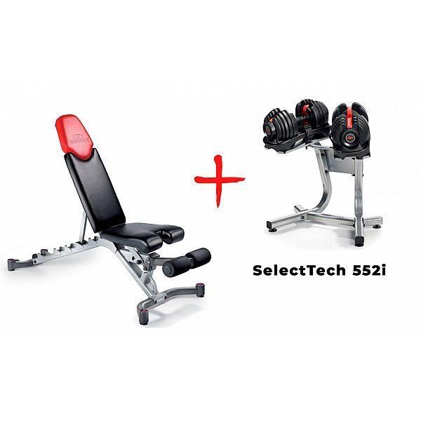 Скамья со стойкой и гантелями Bowflex SelectTech 552i