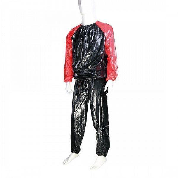 Костюм-сауна LiveUp PVC Sauna Suit S/M Black-Red (LS3034-SM)