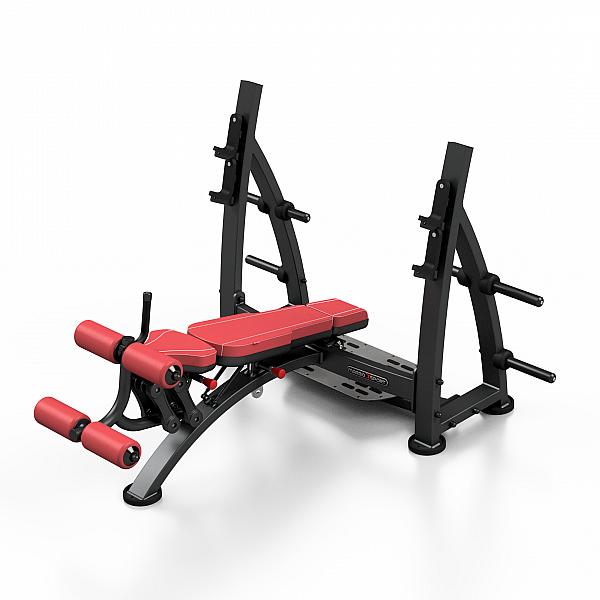 Наклонная скамья для жима Marbo Sport MF-L008