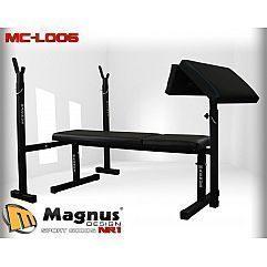 Скамейка простая для жима лежа+ Стойки MAGNUSMC-L006