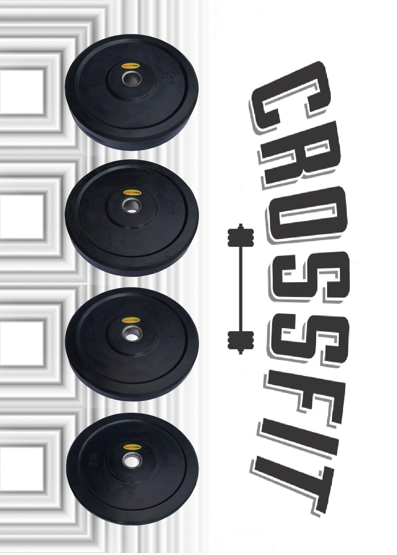Бамперные диски 5-10-15-20 кг. CrossFit