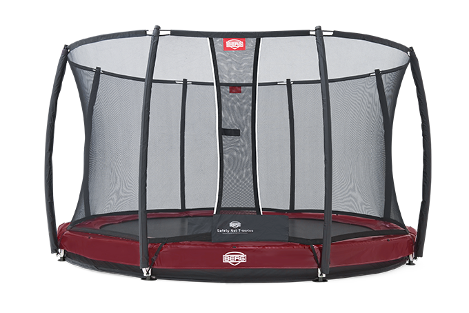 Батут Berg Elite+InGround Red 380 см + Safety Net T-series 380 см арт. 37.12.82.00