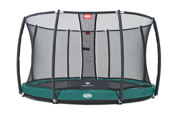 Батут Berg Elite+InGround Green 430 см + Safety Net T-series 430 см арт. 37.14.92.00