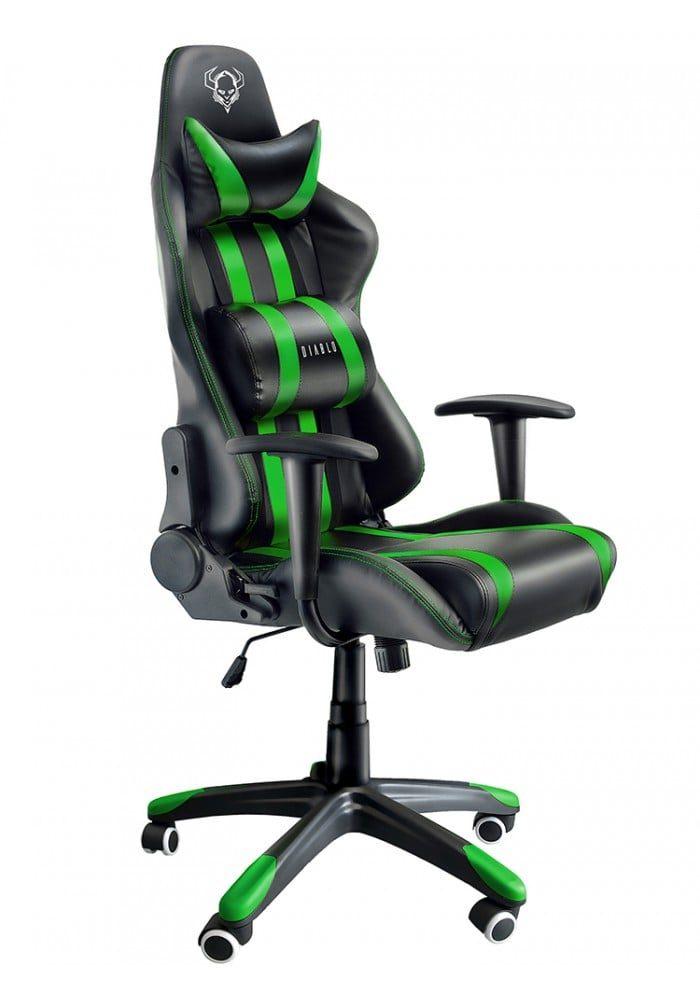 Геймерское кресло Diablo X-One черно-зеленое