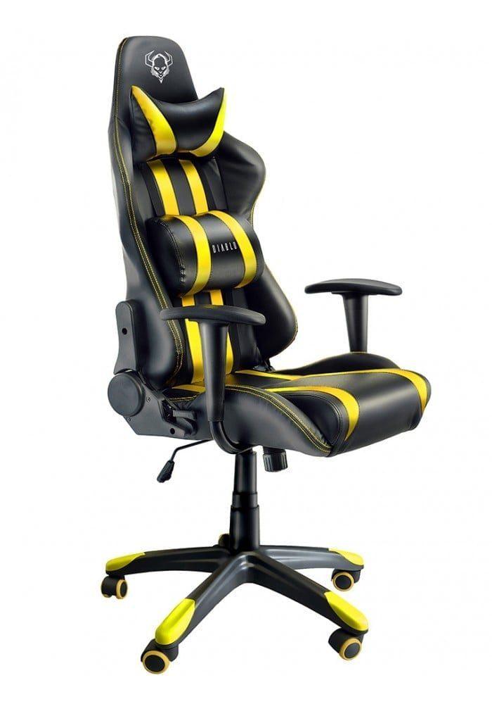 Геймерское кресло Diablo X-One черно-желтое