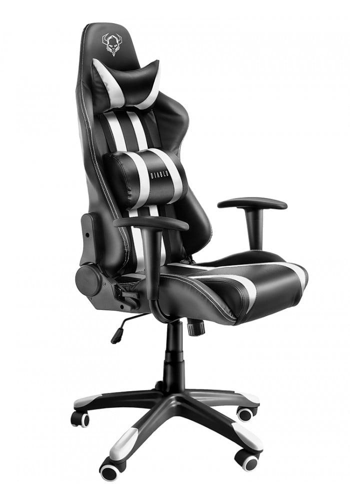 Геймерское кресло Diablo X-One черно-белое