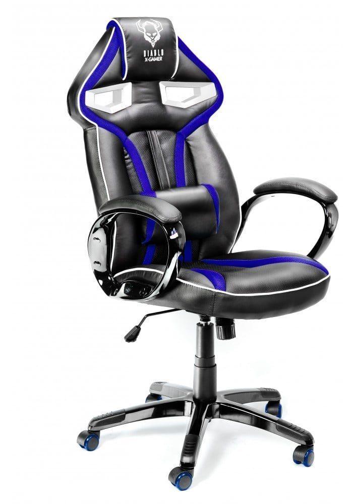 Геймерское кресло Diablo X-Gamer Plus черно-синее