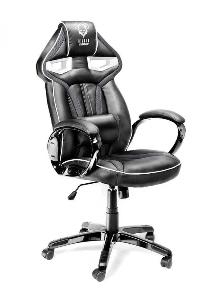 Геймерское кресло Diablo X-Gamer Plus черно-серое