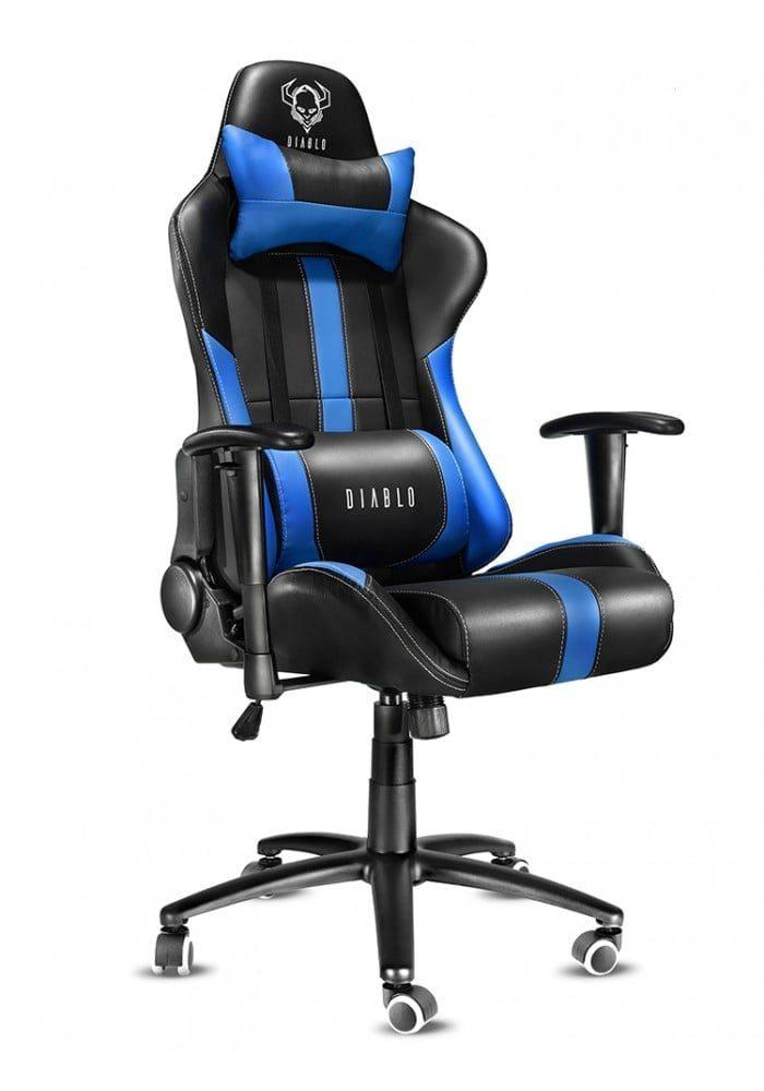 Геймерское кресло Diablo X-Player черно-синее