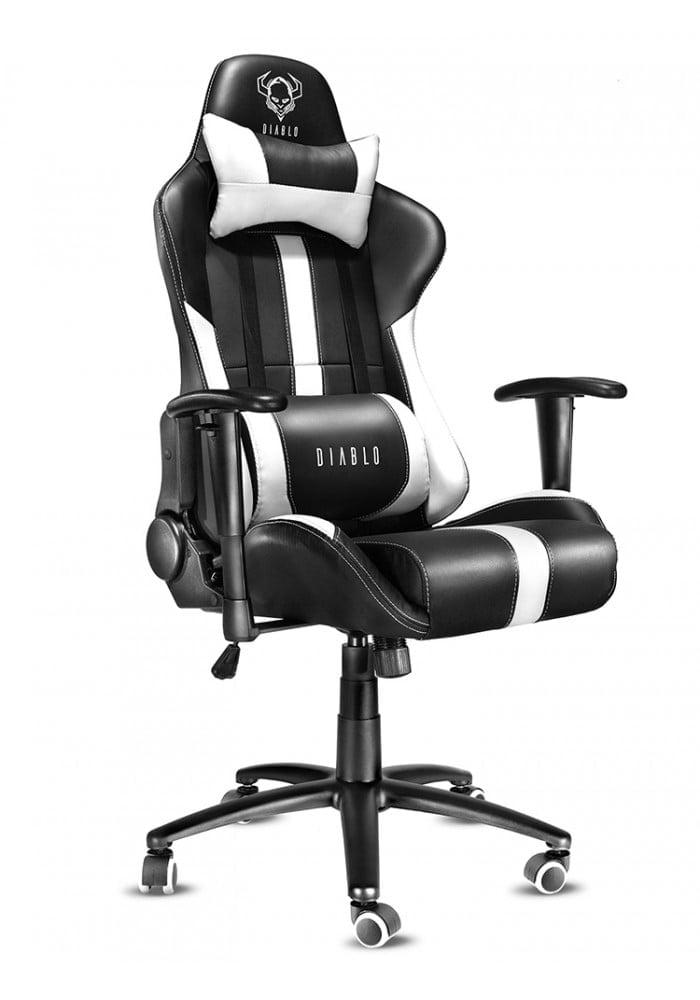 Геймерское кресло Diablo X-Player черно-белое