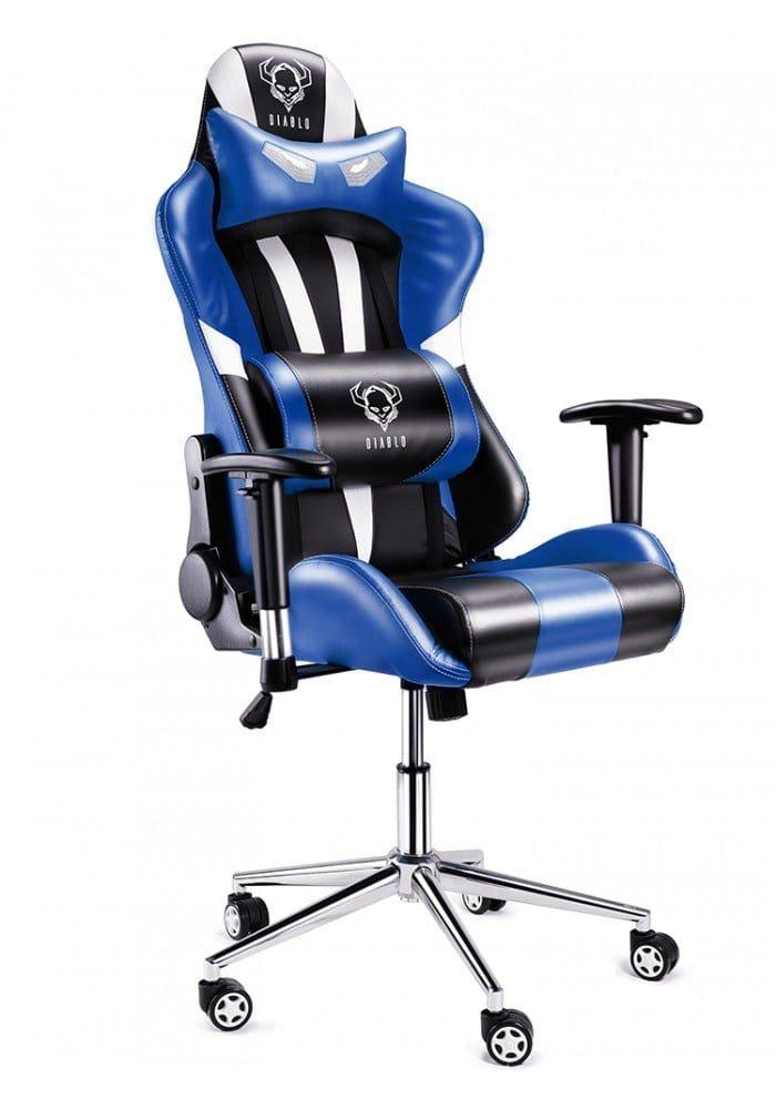Геймерское кресло Diablo X-Eye черно-бело-синее