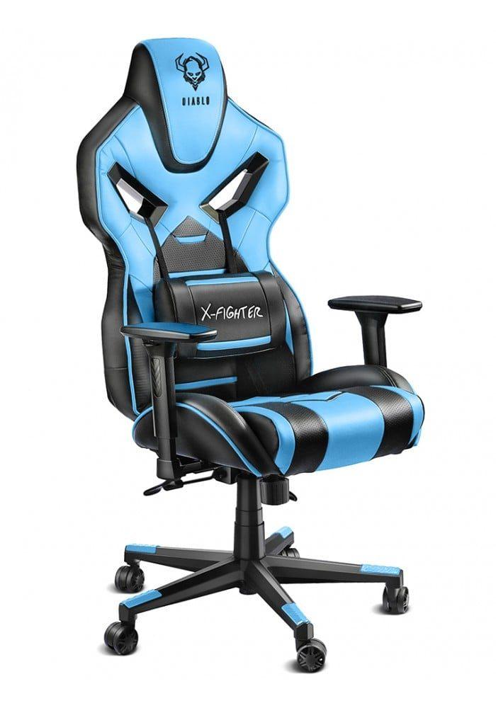 Геймерское кресло Diablo X-Fighter черно-синее