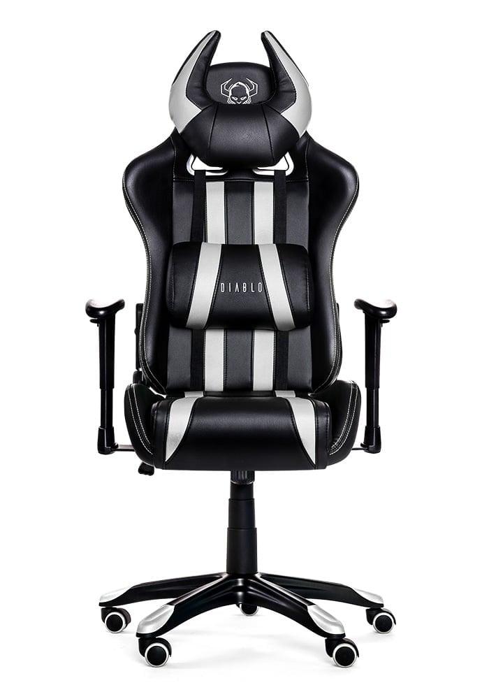 Геймерское кресло Diablo X-One Horn черно-белое