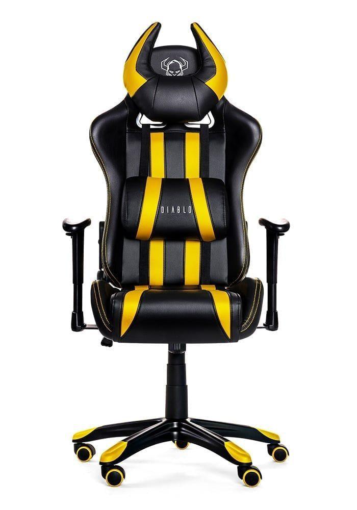 Геймерское кресло Diablo X-One Horn черно-желтое