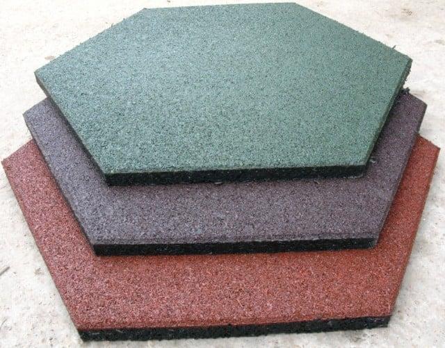 Модульное резиновое шестиугольное покрытие для спортзала