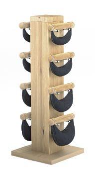 Swing стойка из дуба с гантелями 1-2-4-6 кг