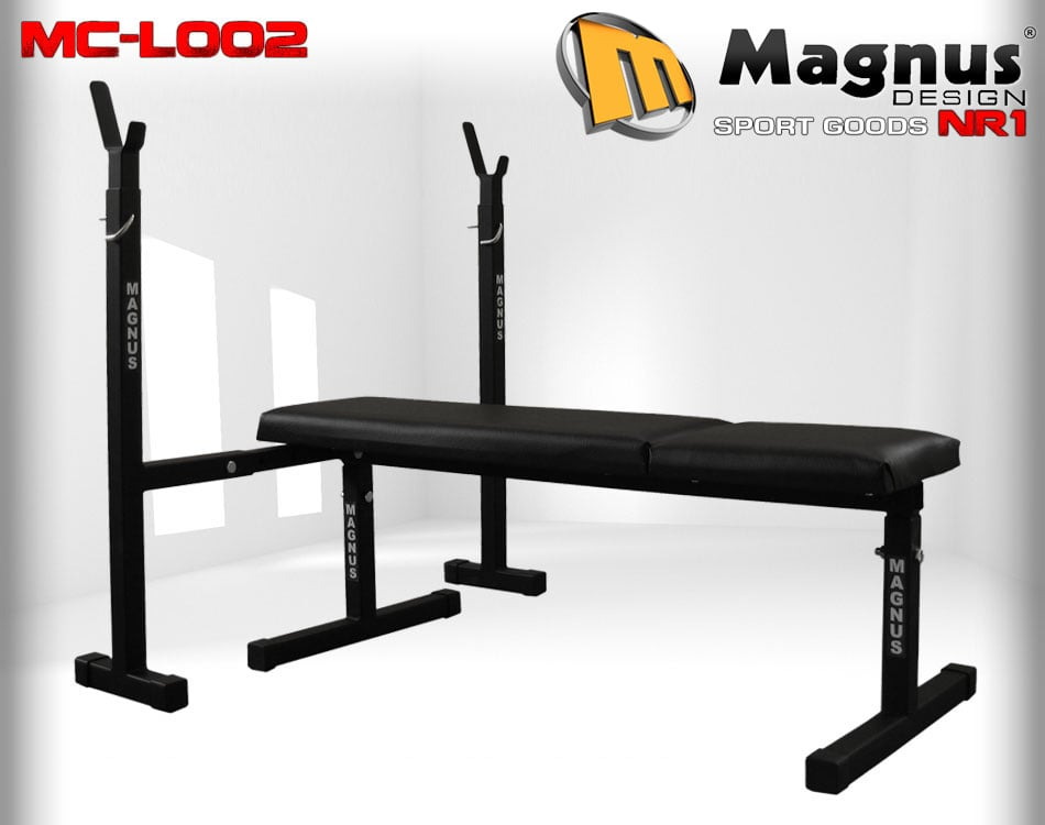 Скамья под штангу прямая + стойки MAGNUS MC-L002