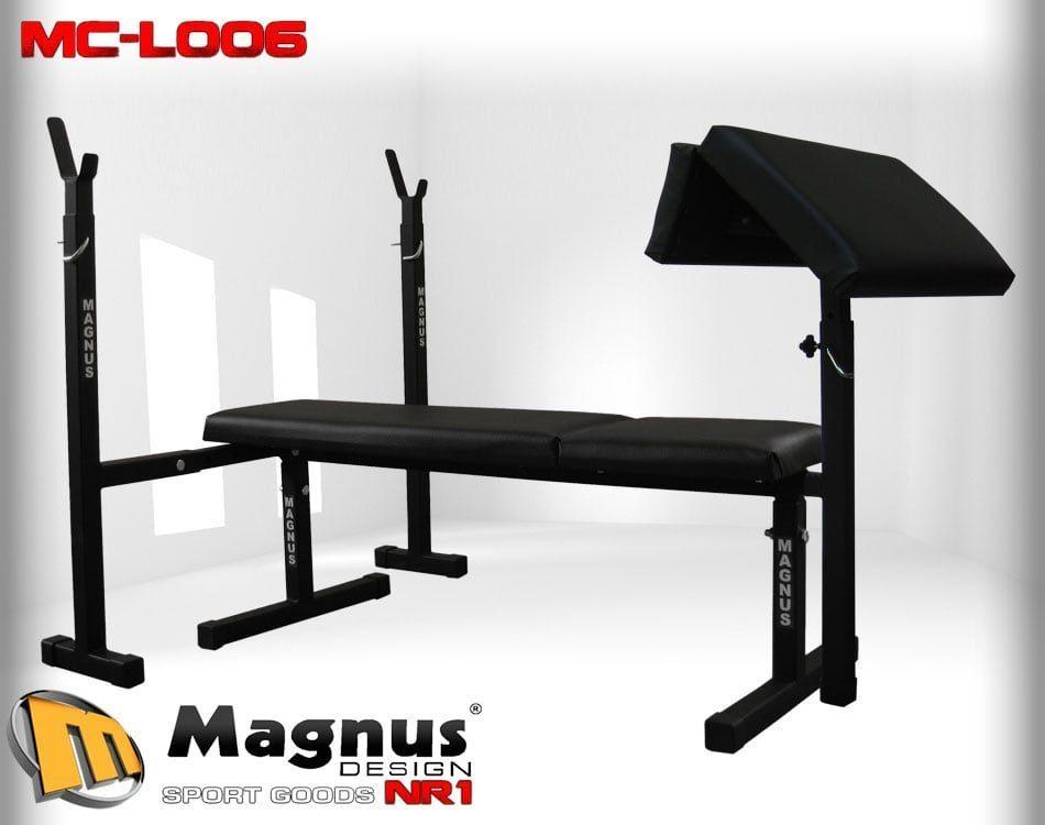 Скамейка простая для жима лежа+ Стойки MAGNUS MC-L006