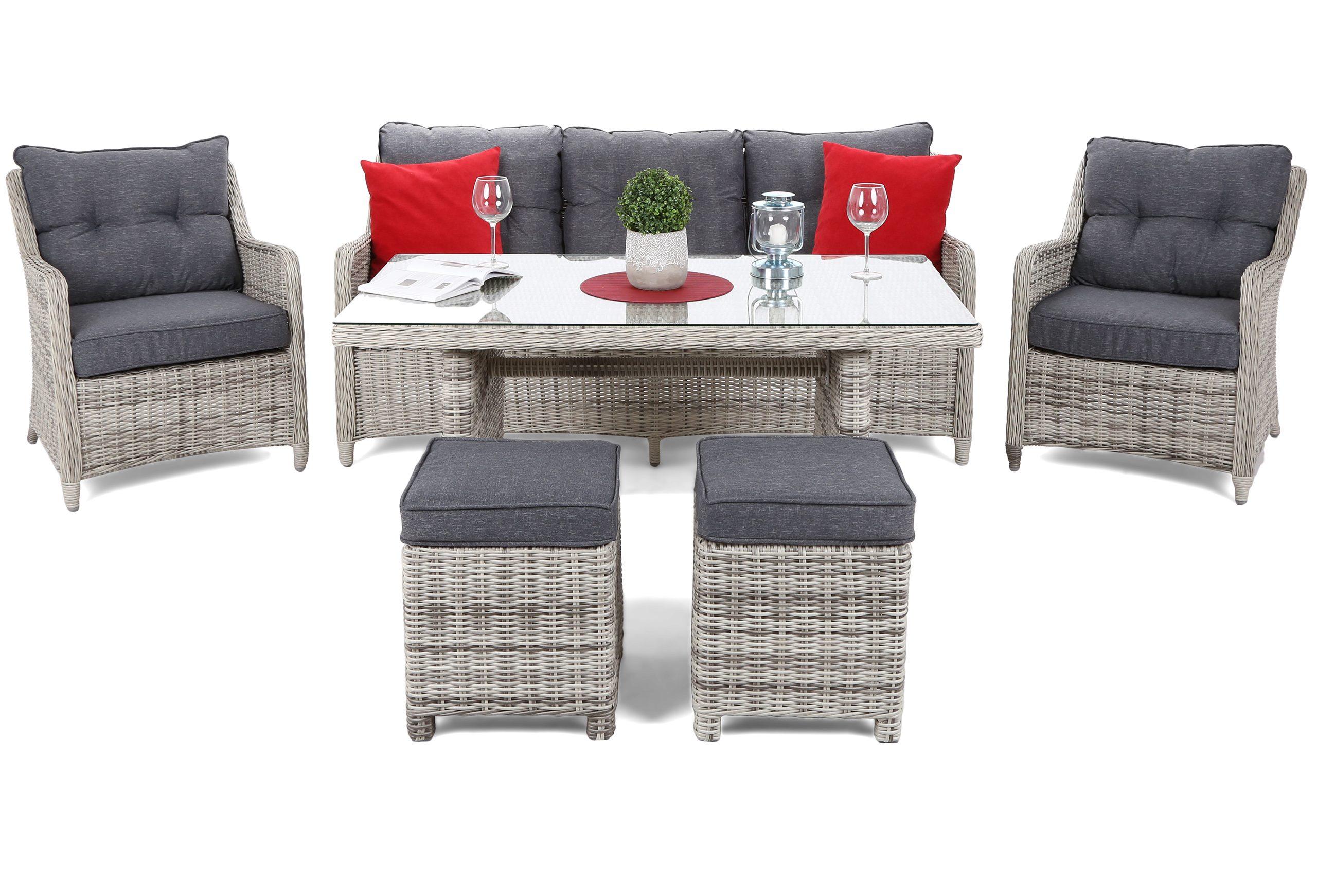 Садовая мебель CALIFORNIA из технораттана серый